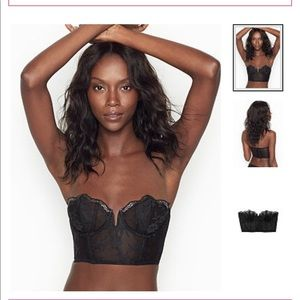 NWT Victoria secret scalloped lace bustier